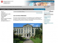 archives-federales.ch